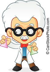 PROFESSOR - Cartoon illustration of a professor