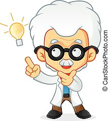 PROFESSOR - Cartoon illustration of a professor