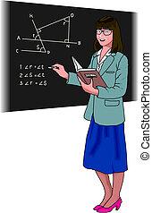 professor, chalkboard
