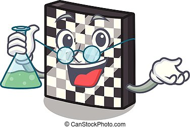 Professor chessboard in the a cartoon shape vector...