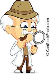 Professor Detective - Clipart Picture of a Professor...