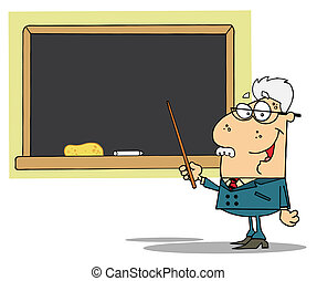 Professor Displayed On Chalk Board