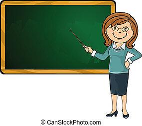 professor, e, quadro-negro
