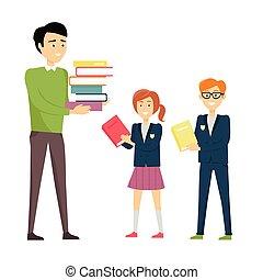 professor escola, pupilas