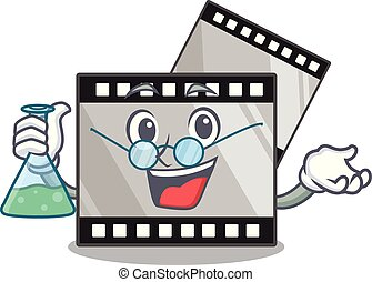 Professor film stirep in the characater shape vector...