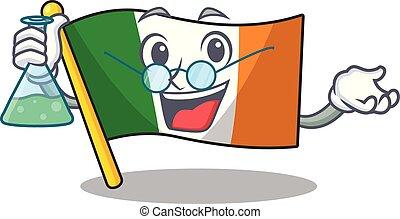 Professor flag ireland hoisted above cartoon pole