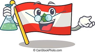 Professor flag lebanon raised above mascot pole