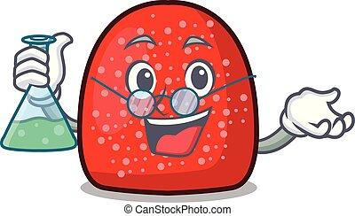 Professor gumdrop character cartoon style vector ...