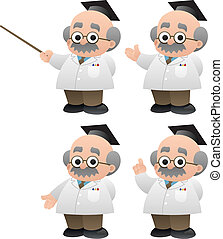 Professor in 4 different poses. No transparency used. Basic...