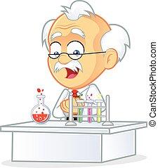 Professor in the Laboratory - Clipart Picture of a Professor...