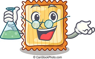 Professor lasagne isolated with in the cartoon vector...