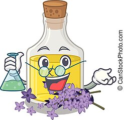 Professor lavender oil isolated with the mascot vector...