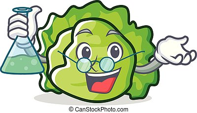Professor lettuce character cartoon style