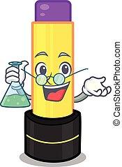 Professor lip balm above mascot dressing table vector...