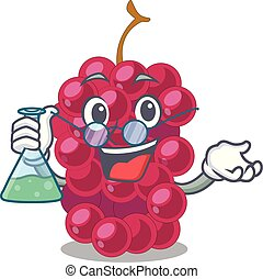 Professor mulberry in the character fruit basket vector...
