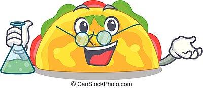 Professor omelatte is fried on character teflon vector ...