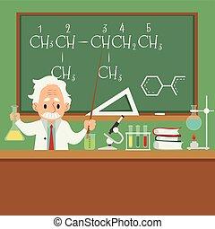 Professor or scientist teaching in college or university...