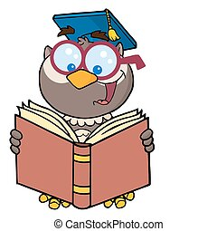 Professor Owl Reading