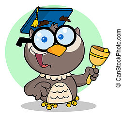 Professor Owl Ringing A Bell