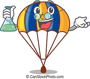 Professor parachute isolated with in the cartoons vector...