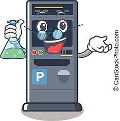 Professor parking vending machine the cartoon shape
