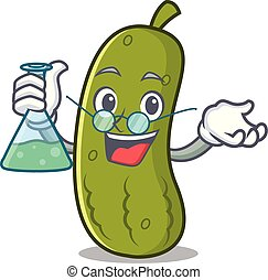 Professor pickle character cartoon style