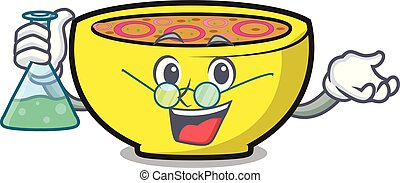 Professor soup union character cartoon