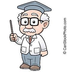 professor, spotprent