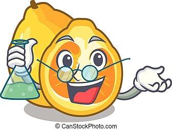 Professor ugli in the mascot fruit basket illustration...