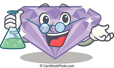 Professor violet diamond isolated with the character vector...