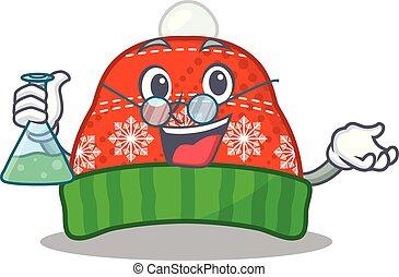 Professor winter hat in the mascot shape