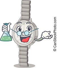 Professor wristwatch in the a character shape vector...