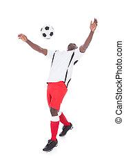 profi, futball játékos, játék, noha, labda