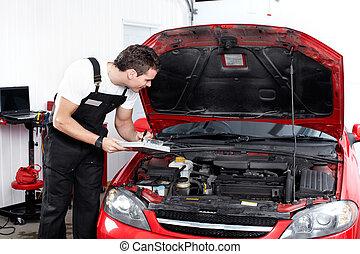 profi, mechanic., autó