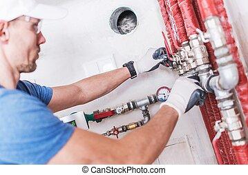 profi, vízvezeték szerelő, munka