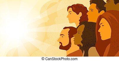 profie, multinational, gens, groupe