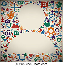 profiel, media, sociaal