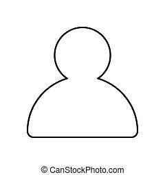 Profiel,  web, schets,  App, Vrijstaand, illustratie,  Vector, pictogram,  lined, Of, Ontwerp