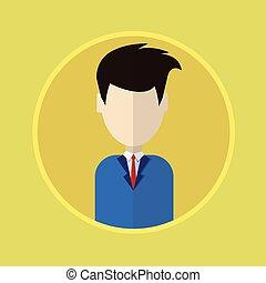 profiel, zakelijk, avatar, man, verticaal, mannelijke , pictogram
