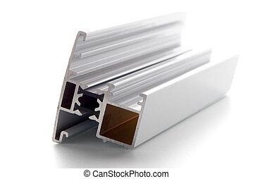 profil, aluminium, accessoire