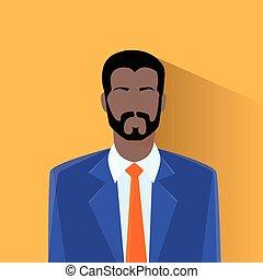 profil, américain, avatar, homme, mâle africain, icône