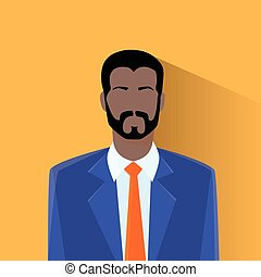 profil, amerikan, avatar, man, afrikansk hane, ikon
