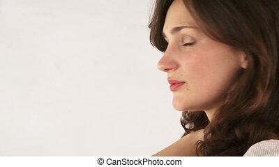 profil, belle femme