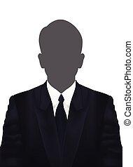 profil, bild, erwachsener, vector., mann, avatar