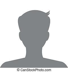 profil, bild, gebrauch, website., avatar, vector., sozial, mann