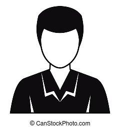 profil, bild, stil, einfache , avatar, ikone, mann