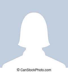 profil, bild, weibliche
