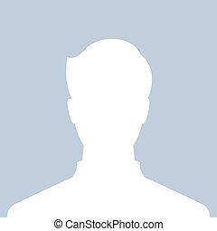 profil, billede, mandlig