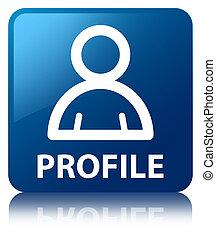profil, blaues quadrat, taste, (member, icon)