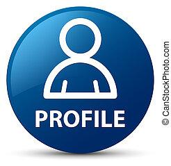 profil, blaues, taste, runder , (member, icon)